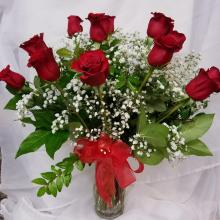 1 Dozen Red Roses Vased