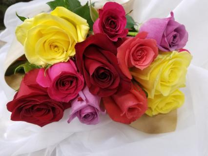 Sweetest Day Roses! One Dozen Roses Wrapped