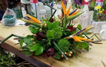 Centerpiece with Birds of Paradise