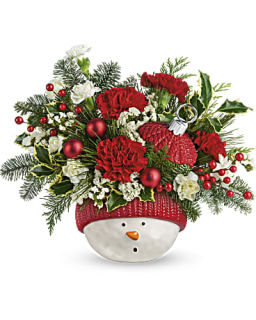 Snowman Ornament Bouquet