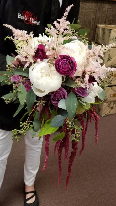 Passionate Plum Bridal Bouquet